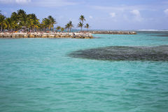 Beautiful view of caribbean lagoon Royalty Free Stock Images