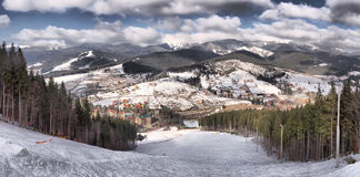 Beautiful view at the Carpathian Mountains, Ukraine Stock Photo