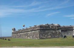 Beautiful view Cartagena Fort stock image