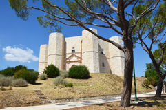 Beautiful view of Castel del Monte, the famous castle built in an octagonal shape by the Holy Roman Emperor Frederick II in the 13. Th century in Apulia, Italy Stock Photo