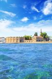 Beautiful view of the castle of Larnaca, on the island of Cyprus Royalty Free Stock Images