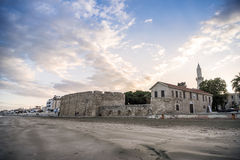 Beautiful view of the Castle in Larnaka, Cyprus Stock Photography
