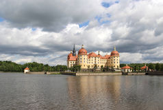 Beautiful view of castle Moritzburg, Germany Royalty Free Stock Photos