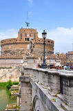 Beautiful view with castle st. Angelo. Rome Stock Images