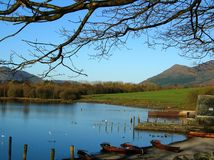 A beautiful view of Cat Bells from the Lakeside ,Cumbria,England Stock Image