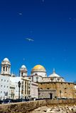 Beautiful view of The Cathedral Nueva in Cadiz Stock Image