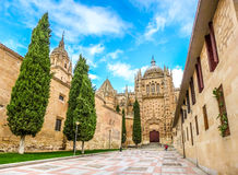 Beautiful view of Cathedral of Salamanca, Castilla y Leon, Spain Stock Photo