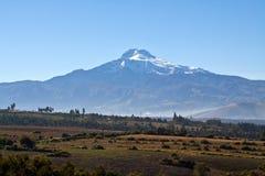 Beautiful view of Cayambe volcano in Ecuador Stock Photo