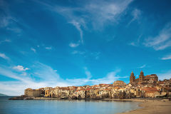 Beautiful view of of Cefalu old town Royalty Free Stock Photos