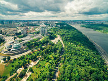 Beautiful view of central part of Kyiv and the Dnipro river Stock Photography