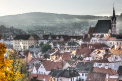 Beautiful view of Cesky Krumlov royalty free stock photography