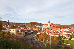 Beautiful view of Cesky Krumlov town Stock Image