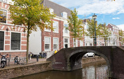 Beautiful view of channels in Delft Royalty Free Stock Photography