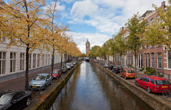 Beautiful view of channels in Delft Stock Photos