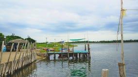 Beautiful View of Chunambar Port, Pondicherry, India royalty free stock photos