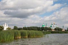Beautiful view on church, Rostov Veliky, Russia Stock Photos