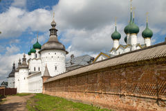 Beautiful view on church, Rostov Veliky, Russia Royalty Free Stock Photo