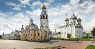 Beautiful view on church, Rostov Veliky, Russia Stock Images