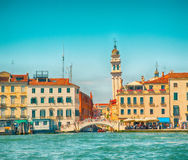 Beautiful view of church San Giorgio dei Grec in Venice Royalty Free Stock Photo