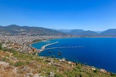 Beautiful view of city Alanya in Turkey Royalty Free Stock Photo