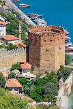 Beautiful view of city Alanya in Turkey Stock Images