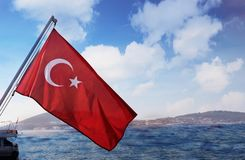 Beautiful view of the city from the Bosphorus Gulf in Turkey Istanbul royalty free stock image