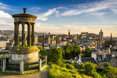 Beautiful view of the city of Edinburgh royalty free stock photo