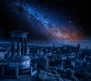 Beautiful view of the city of Edinburgh royalty free stock photos