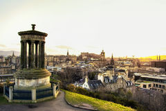 Beautiful view of the city of Edinburgh. Royalty Free Stock Photography