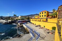 Beautiful view of the city of funchal, portugal. Beautiful colorful view of the city of funchal, portugal stock image