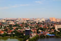 Beautiful view of the city of Krasnodar royalty free stock photo