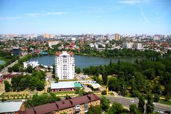 Beautiful view of the city of Krasnodar royalty free stock photography