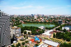 View of the city of Krasnodar royalty free stock images