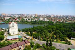 View of the city of Krasnodar stock photo