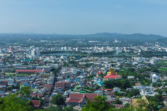 Beautiful view of the city of Nakhon Sawan Province, Thailand Royalty Free Stock Photo