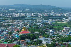 Beautiful view of the city of Nakhon Sawan Province, Thailand Royalty Free Stock Photography