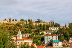 Beautiful view of the city of Piran, Slovenia on a Sunny day. Royalty Free Stock Image