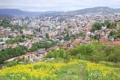 Beautiful view of the city of Sarajevo, Bosnia and Herzegovina Royalty Free Stock Photography