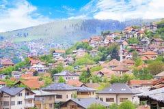 Beautiful view of the city of Sarajevo, Bosnia and Herzegovina Royalty Free Stock Photos