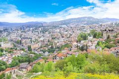 Beautiful view of the city of Sarajevo, Bosnia and Herzegovina Royalty Free Stock Images
