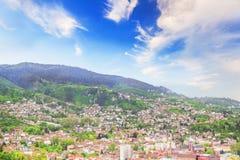Beautiful view of the city of Sarajevo, Bosnia and Herzegovina Stock Image
