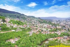 Beautiful view of the city of Sarajevo, Bosnia and Herzegovina Royalty Free Stock Photo
