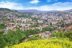 Beautiful view of the city of Sarajevo, Bosnia and Herzegovina Stock Photos