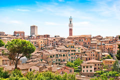 Beautiful view of the city of Siena, Italy. Beautiful view of the historic city of Siena, Tuscany, Italy stock images