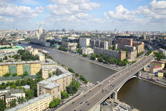 Beautiful view of the cityscape with bridge and river Royalty Free Stock Photography