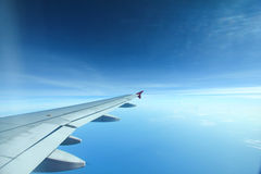 Beautiful view of clear sky. From the aeroplane window Stock Image