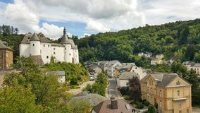 Beautiful view of Clervaux, Luxembourg royalty free stock photography