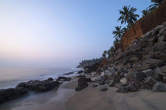 Beautiful view on a cliff by the ocean. In Varkala royalty free stock images
