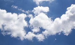Beautiful view. Clouds and blue sky royalty free stock image