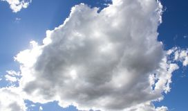 Beautiful view. Clouds and blue sky stock images